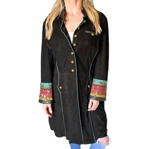 Double D Ranch Suede Charm Jacket in Black